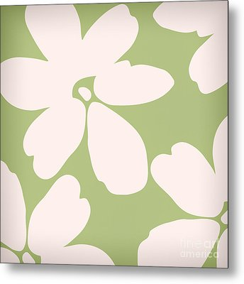 English Garden Floral Pattern Metal Print by Mindy Sommers