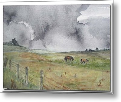 Metal Print featuring the painting English Memories by Sibby S