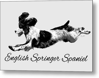 English Springer Spaniel Metal Print by Ann Lauwers