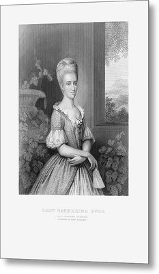 Engraved Portrait Of Lady Catherine Duer, Circa 1780 Metal Print