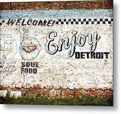 Enjoy Detroit Metal Print by Humboldt Street
