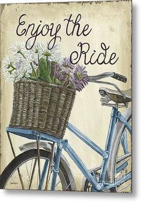 Enjoy The Ride Vintage Metal Print by Debbie DeWitt