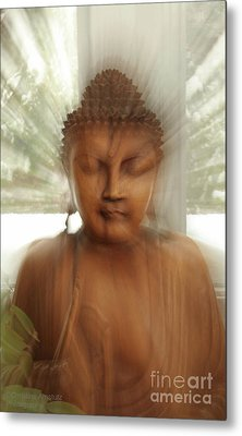 Metal Print featuring the photograph Enlightened Buddha by Christine Amstutz
