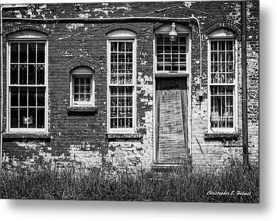 Metal Print featuring the photograph Enough Windows - Bw by Christopher Holmes