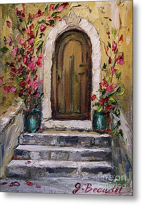 Metal Print featuring the painting Enter Here by Jennifer Beaudet
