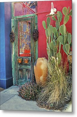 Enter - You Are Always Welcome Metal Print by Lucinda Walter