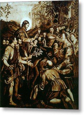 Entering Into Jerusalem Metal Print by Dino Muradian