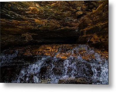 entering the unknown - Cavern Metal Print by Chris Flees