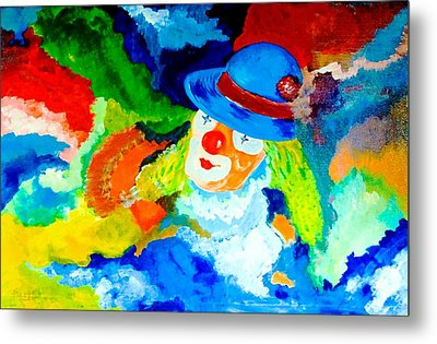 Metal Print featuring the painting Entertainer by Piety Dsilva