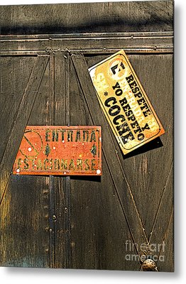 Entrada Metal Print by Mexicolors Art Photography