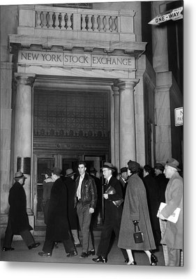 Entrance Of The New York Stock Metal Print by Everett