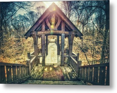 Metal Print featuring the photograph Entrance To 7 Bridges - Grant Park - South Milwaukee  by Jennifer Rondinelli Reilly - Fine Art Photography