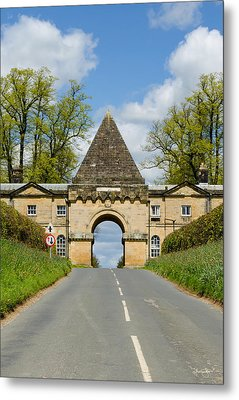 Entrance To Burghley House Metal Print
