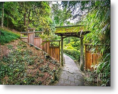 Entrance To Japanese Garden Maymont Metal Print by Karen Jorstad