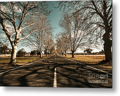 Entrance To Narrandera The Town Of Trees Metal Print