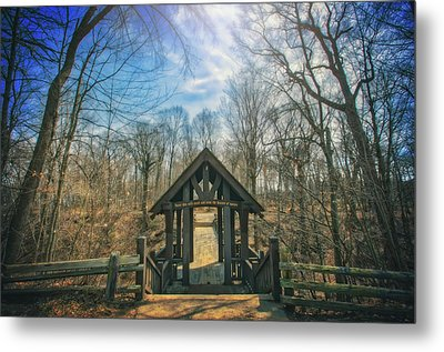 Metal Print featuring the photograph Entrance To Seven Bridges - Grant Park - South Milwaukee #3 by Jennifer Rondinelli Reilly - Fine Art Photography