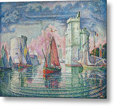 Entrance To The Harbour Of La Rochelle Metal Print
