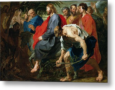 Entry Of Christ Into Jerusalem Metal Print by Sir Anthony van Dyke