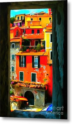Entry Way Painting Metal Print by Catherine Lott