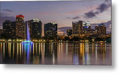 Eola Evening Metal Print by Mike Lang