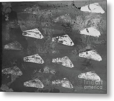 Eoliths Grayscale Metal Print by Robin Maria Pedrero
