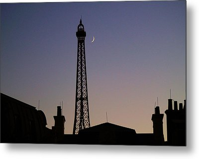 Epcot France Night Metal Print