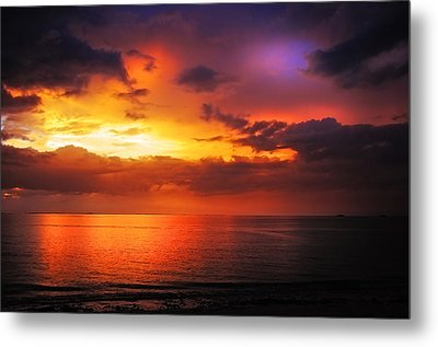 Epic End Of The Day At Equator Metal Print by Jenny Rainbow
