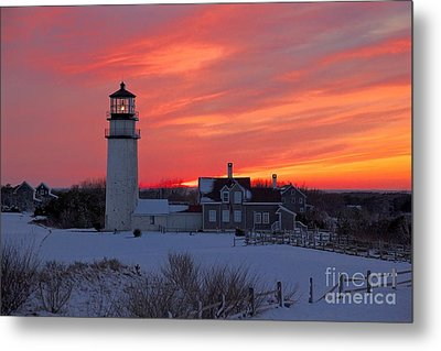 Epic Sunset At Highland Light Metal Print by Amazing Jules