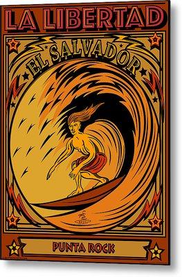 Epic Surf Designs Surf El Salvador Metal Print