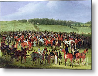 Epsom Races - The Betting Post Metal Print by James Pollard