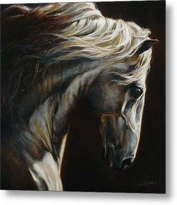 Equus Series I-iii Metal Print by Heather Theurer