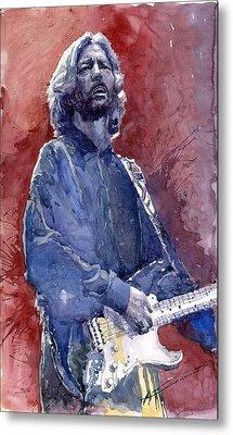 Eric Clapton 04 Metal Print by Yuriy  Shevchuk
