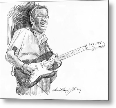 Eric Clapton Jam Metal Print by David Lloyd Glover