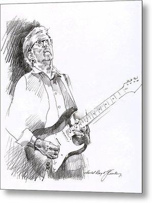 Eric Clapton Joy Metal Print by David Lloyd Glover