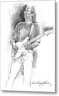 Eric Clapton Strat Metal Print by David Lloyd Glover