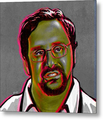 Eric Wareheim Metal Print by Fay Helfer