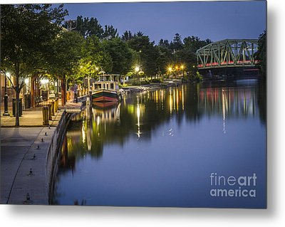 Erie Canal Shoreline Metal Print