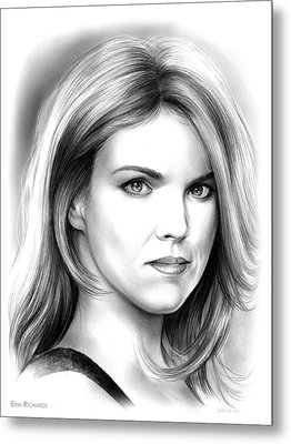 Erin Richards Metal Print by Greg Joens