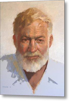 Ernest Hemingway Metal Print by Mike Hanlon