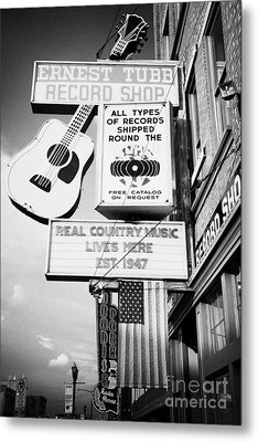 ernest tubbs record shop on broadway downtown Nashville Tennessee USA Metal Print