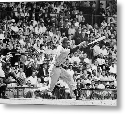 Ernie Banks (1931- ) Metal Print by Granger