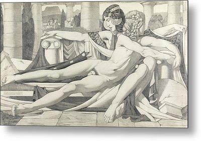 Eros And Aphrodite, 1910 Metal Print