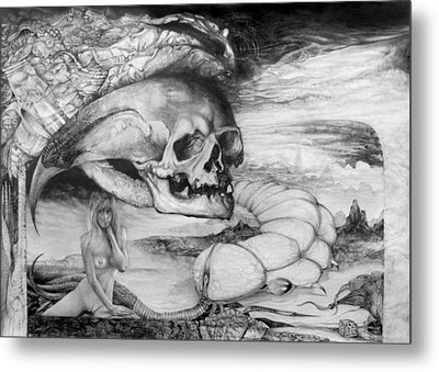 Eros Thanatos Metal Print by Otto Rapp
