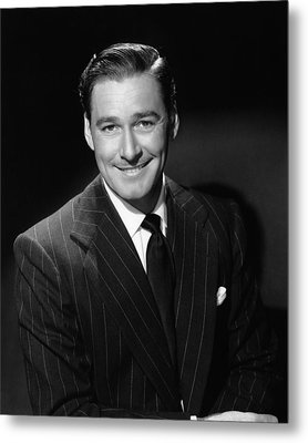 Errol Flynn, Ca. 1940s Metal Print by Everett