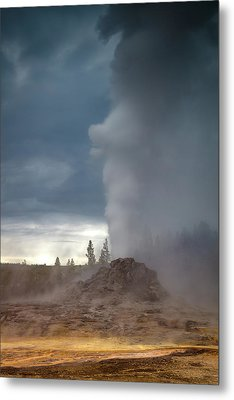 Eruption Metal Print by Edgars Erglis