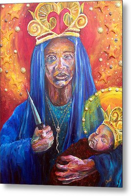 Erzulie Dantor Portrait Metal Print by Christy  Freeman