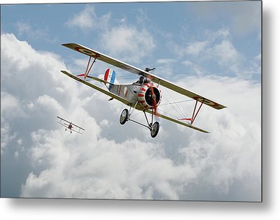 Metal Print featuring the photograph Escadrille Lafayette - Hunters by Pat Speirs
