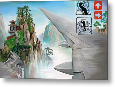 Metal Print featuring the painting Escape by Dave Platford