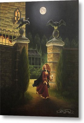 Escape From Raven Manor Metal Print by Karen Coombes