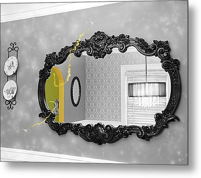 Escape From The Yellow Room Metal Print